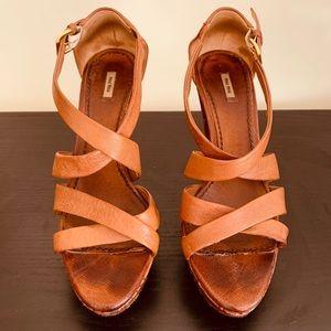 Miu Miu Platform Bandage Sandal
